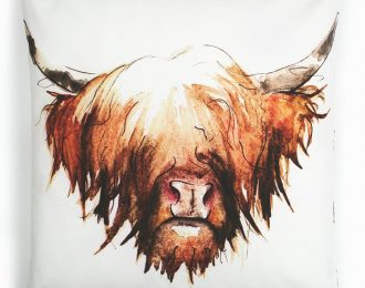 Highland Cow 100% Cotton Cushion