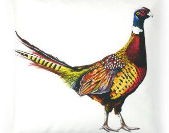 Pheasant 100% Cotton Cushion
