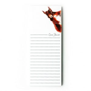 Squirrel magnet notepad