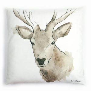 Highland stag cushion