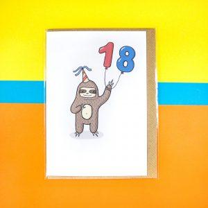 Sloth 18 card