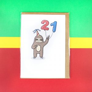 Sloth 21 card