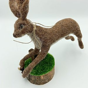 Leaping Felt Hare