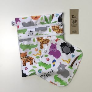 Wet bag and reusable wipes