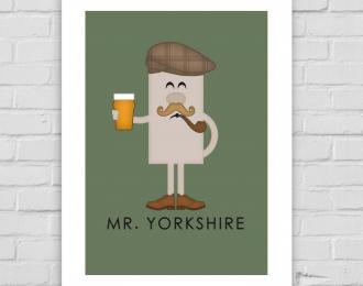 Mr Yorkshire A4 Print