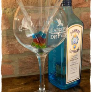 Glass drinks stirrers