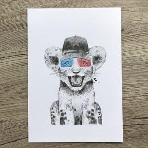 Cub with shades card