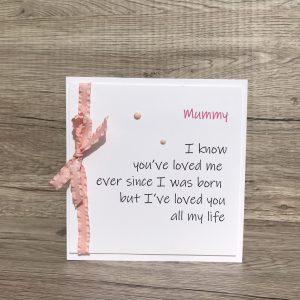 Birthday mum card