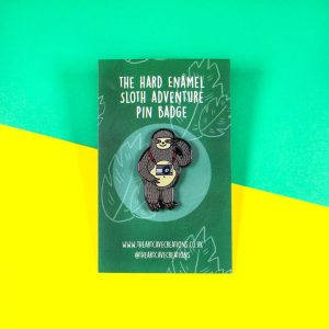 Sloth Enamel Pin Badge