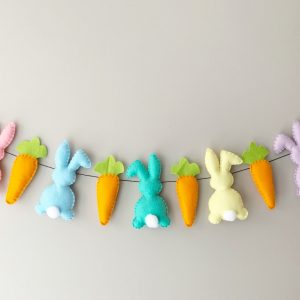 Pastel Bunny and Carrot Garland