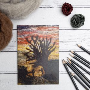Wolds sunset notebook