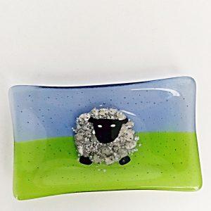 Glass Sheep Dish