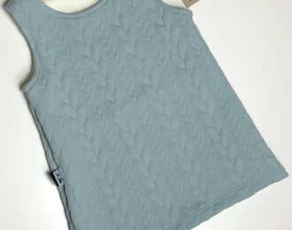 Duck Egg Blue Cable Knit Dress