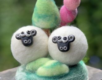 Double Trouble Wool Yorkshire Sheep