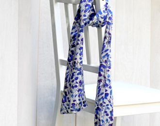 Double Sided Patterned Silk Scarf