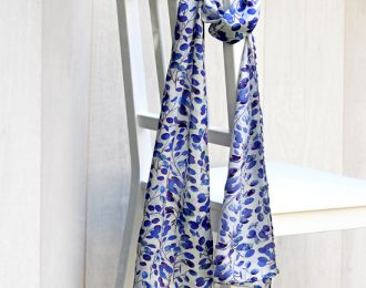 Extra Long Patterned Silk Scarf