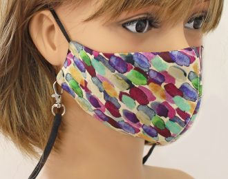 Washable Patterned Silk Face Mask