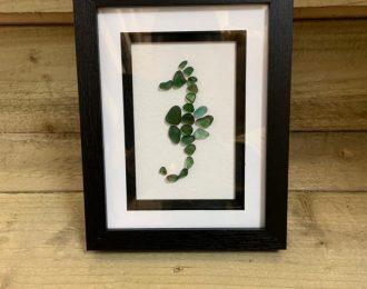 """Sea Glass """"Seahorse"""" Art Picture"""