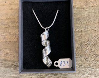 Silver Spiral Pendant & Chain