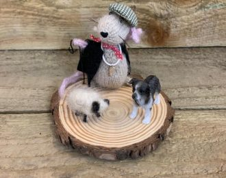 "Knitted ""Shepherd"" Mouse"