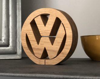 VW Oak Wood Ornament