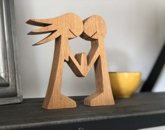 Couple/Friends Oak Wood Ornament