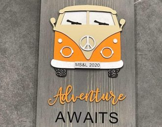 """Adventure Awaits"" Camper Plaque"