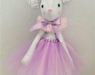 Ballerina Mouse in Purple Tutu