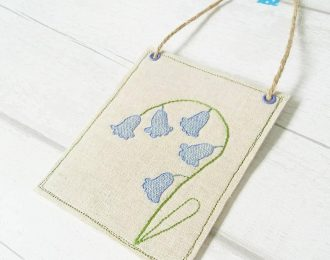 Bluebells Stitched Fabric Banner