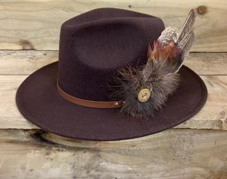Fedora Hat With Beautiful Feathers