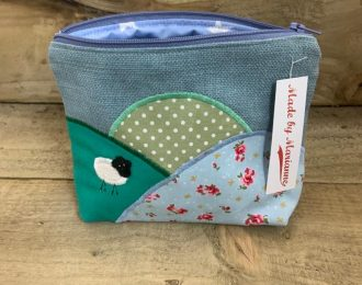 Sheep on the Hill Make-Up Bag