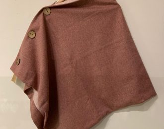 Pink Yorkshire Tweed Shawl