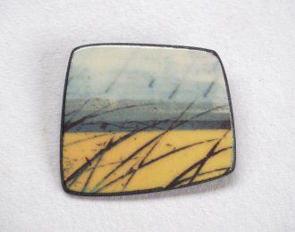 """""""Skyline"""" Porcelain Brooch"""