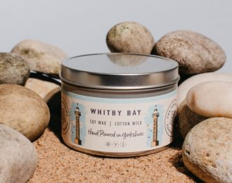 """""""Whitby Bay"""" Soy Wax Tin Candle"""